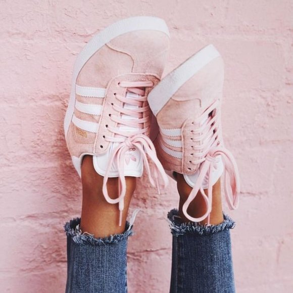 Adidas Courtset Sneakers Suede Pink